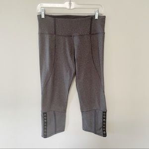 Lululemon cropped tights leggings button detail